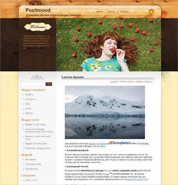excellent food blogger template