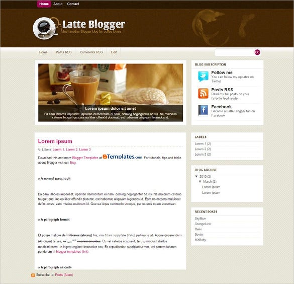 excellent food blogger template1