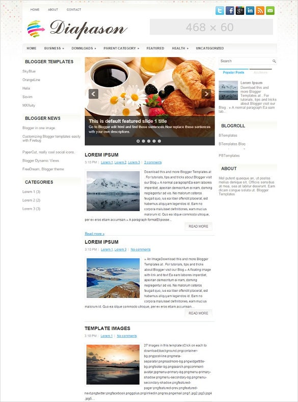 Food recipe blog website templates themes free premium free fabulous food recipe blogger template forumfinder Choice Image
