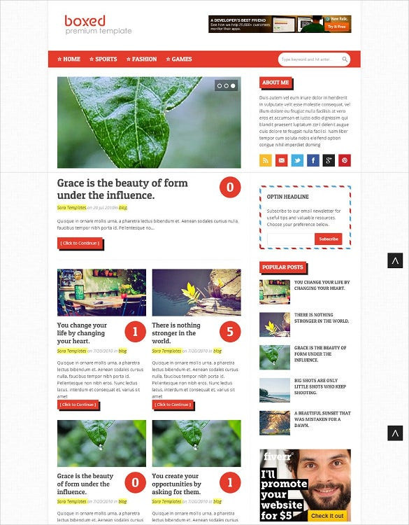 seo boxed blogger template