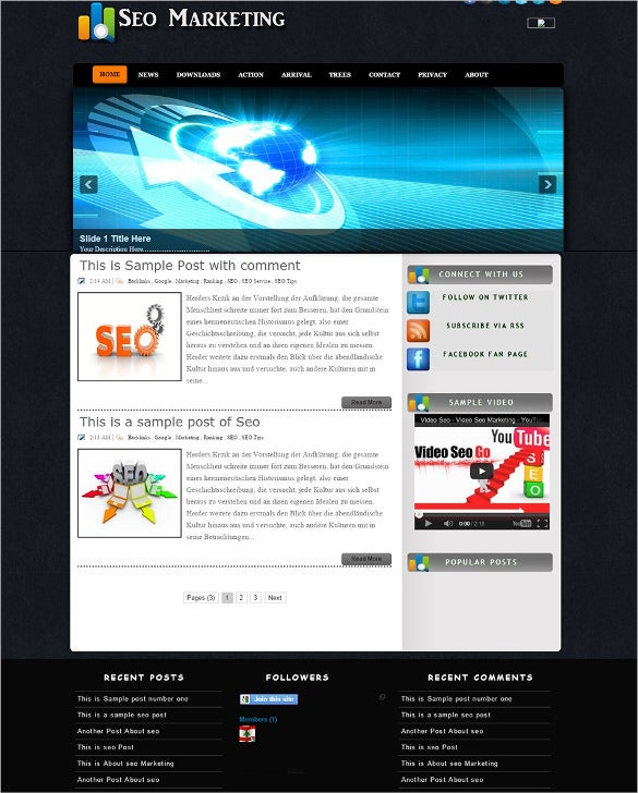 seo marketing blogger gallery template1