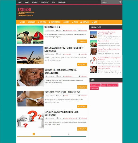 fasteseo blogger template1