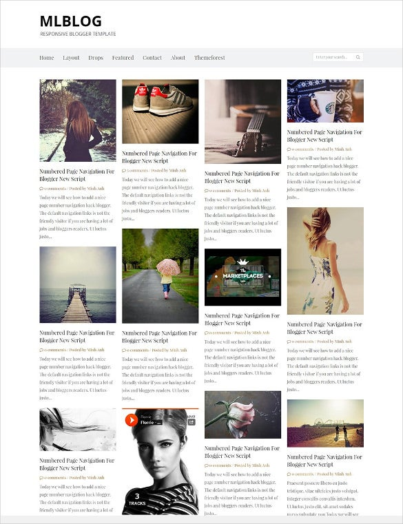 simple responsive seo blogger template