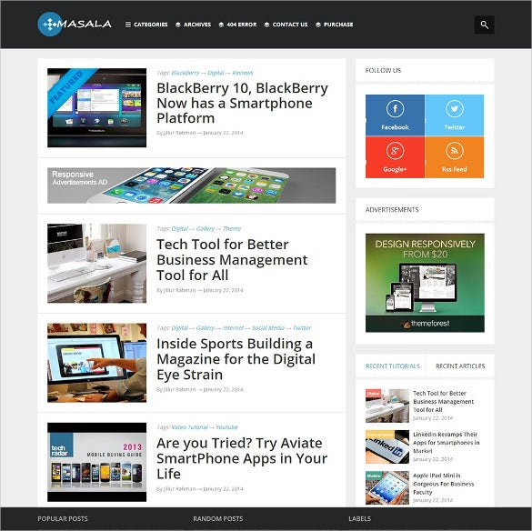 30 best seo blog templates free premium themes free premium responsive multipurpose blogger template wajeb Choice Image