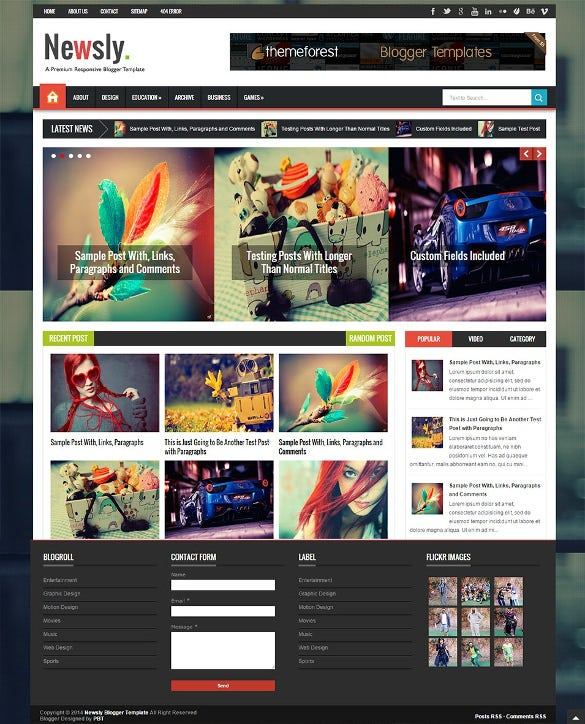 responsive multipurpose blogger template1