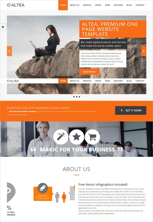 parallax one page html5 template1
