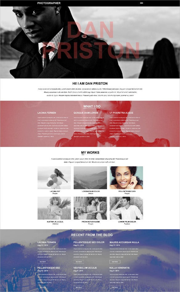 photographer portfolio muse html5 template1