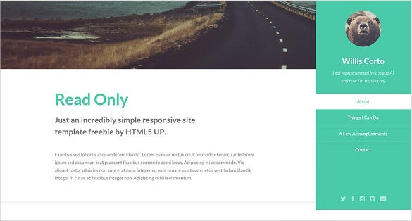 free html5 page template