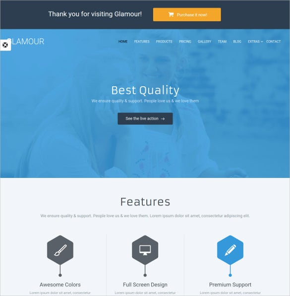 corporate one page html5 template