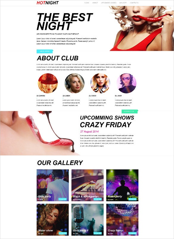 night club muse html5 template