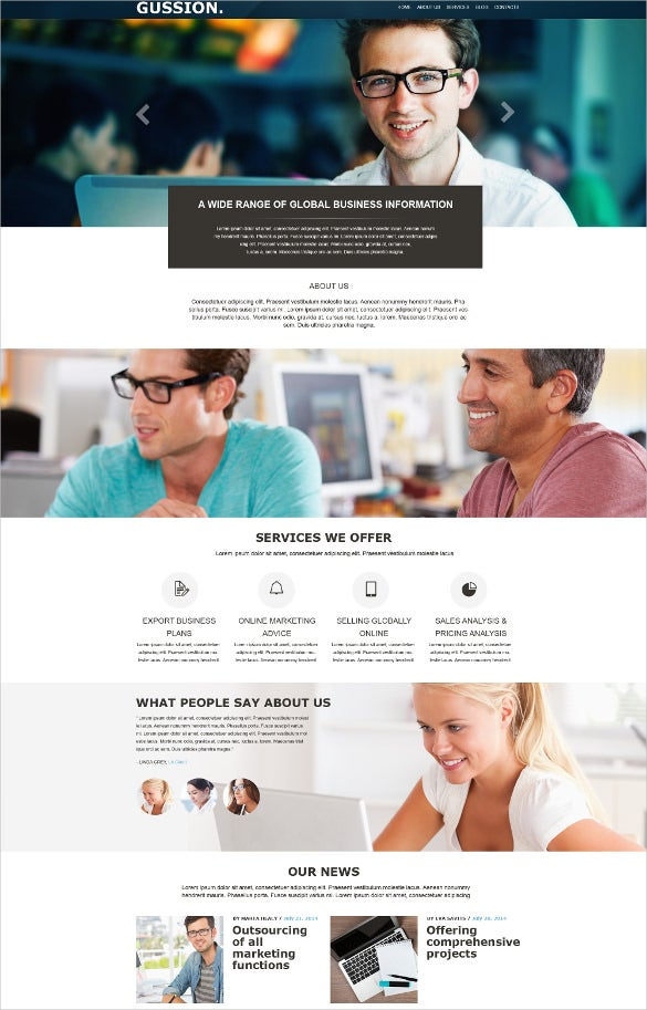 business muse html5 template1
