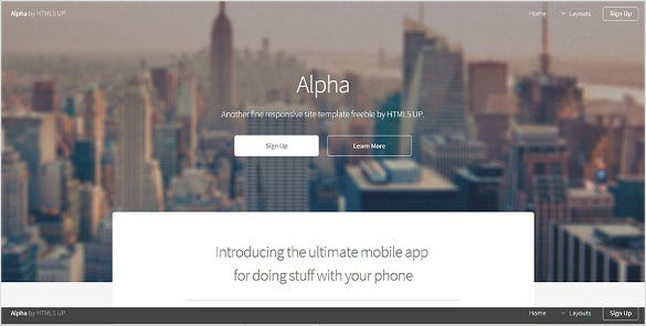 simple html5 page template