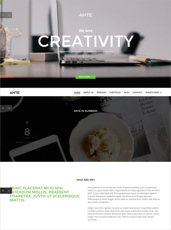 one page parallax html5 modern template