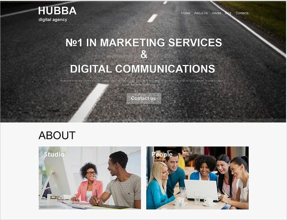 marketing agency muse html5 template