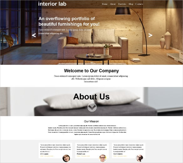 interior design muse html5 template