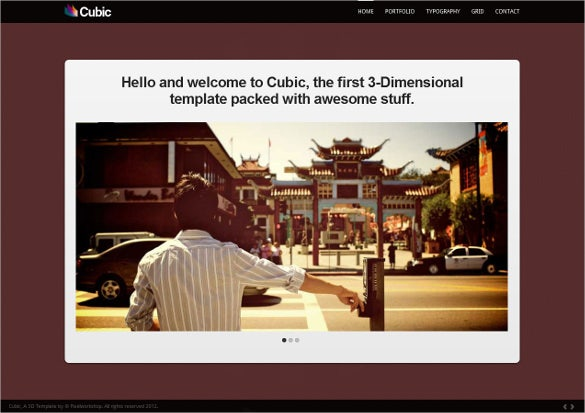 3d html5 one page template