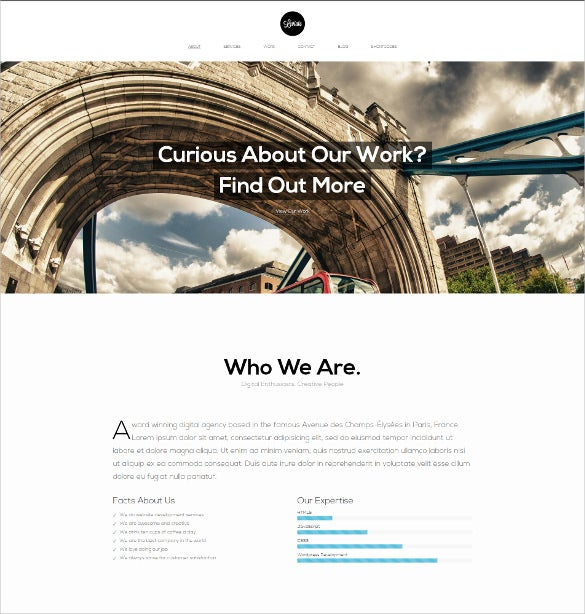 html5 one page parallax template