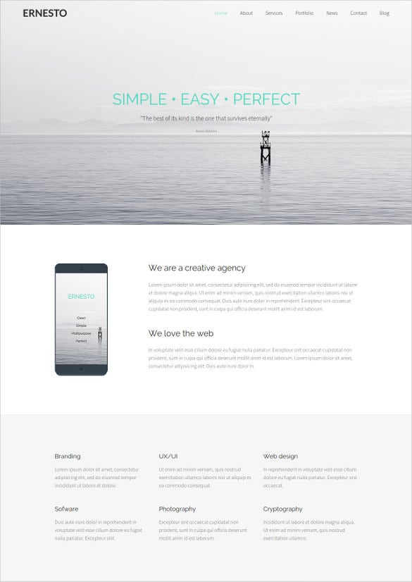 one page html5 template 1