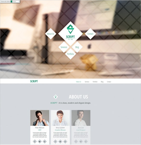 script html5 one page template