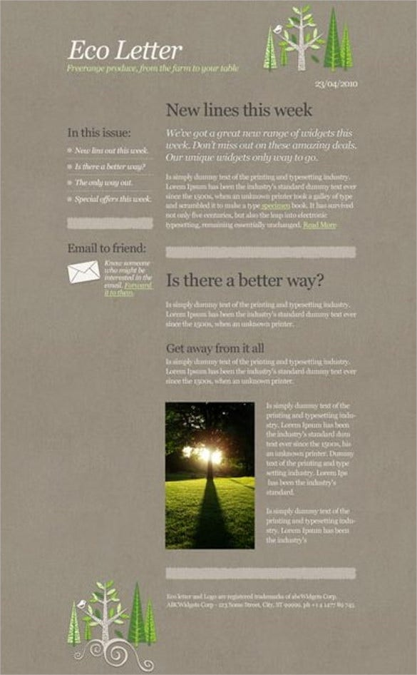 eco email template