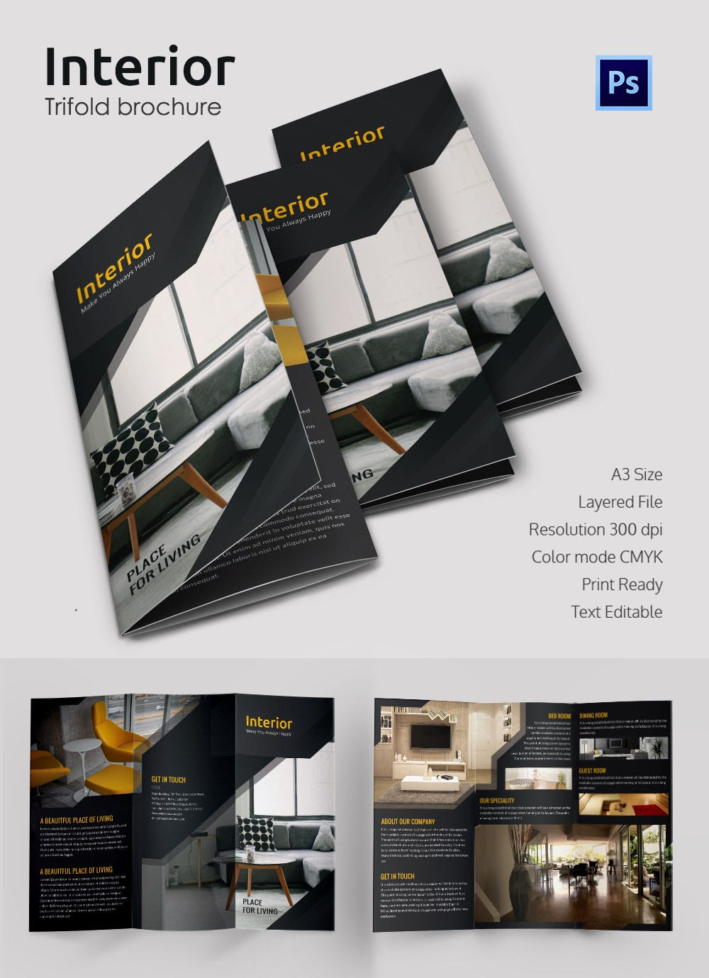17 Interior Decoration Brochure Free Word Psd Pdf