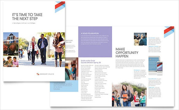 community college brochure template