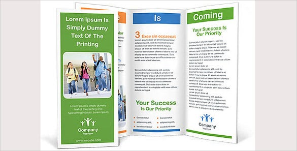 school children brochure template1