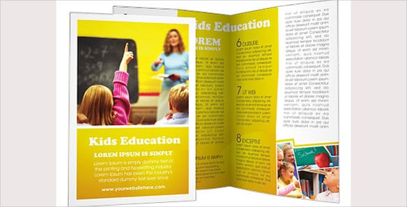school education brochure template1