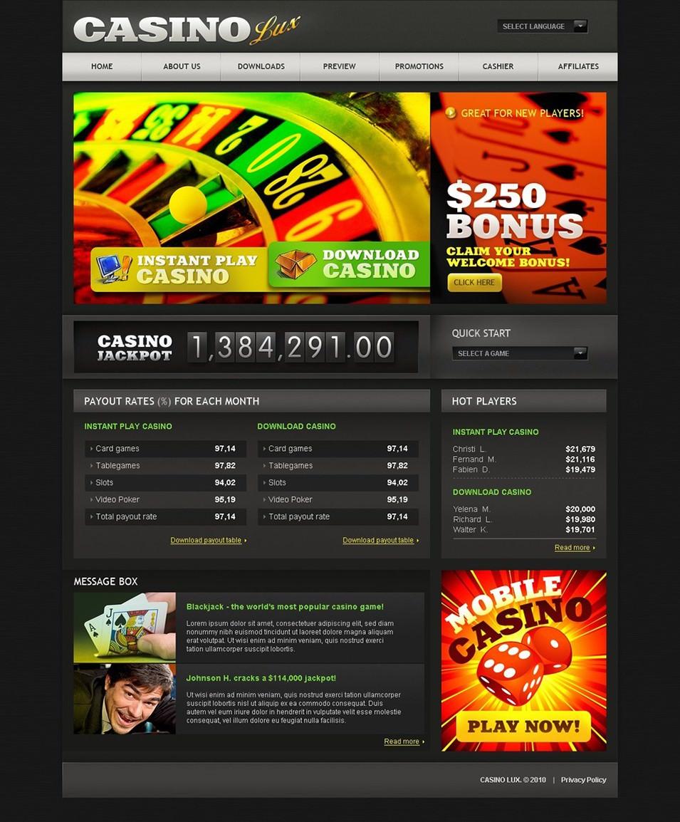 Casino templates joomla