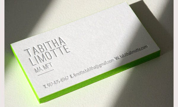 300 Letterpress Business Cards