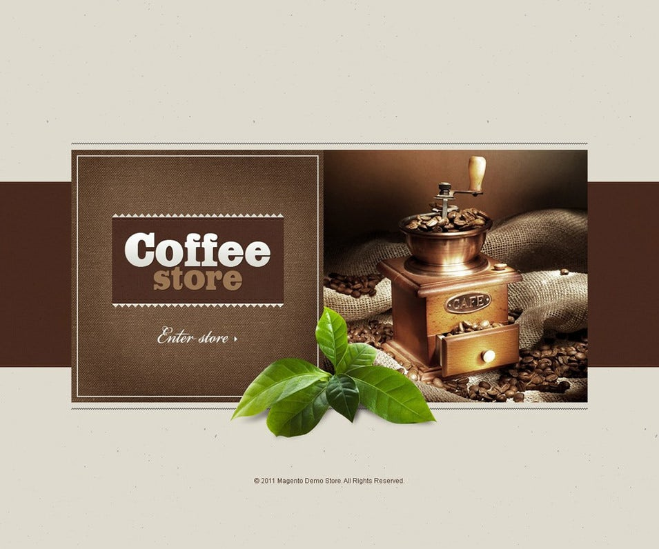 Coffee Shop Magento Theme