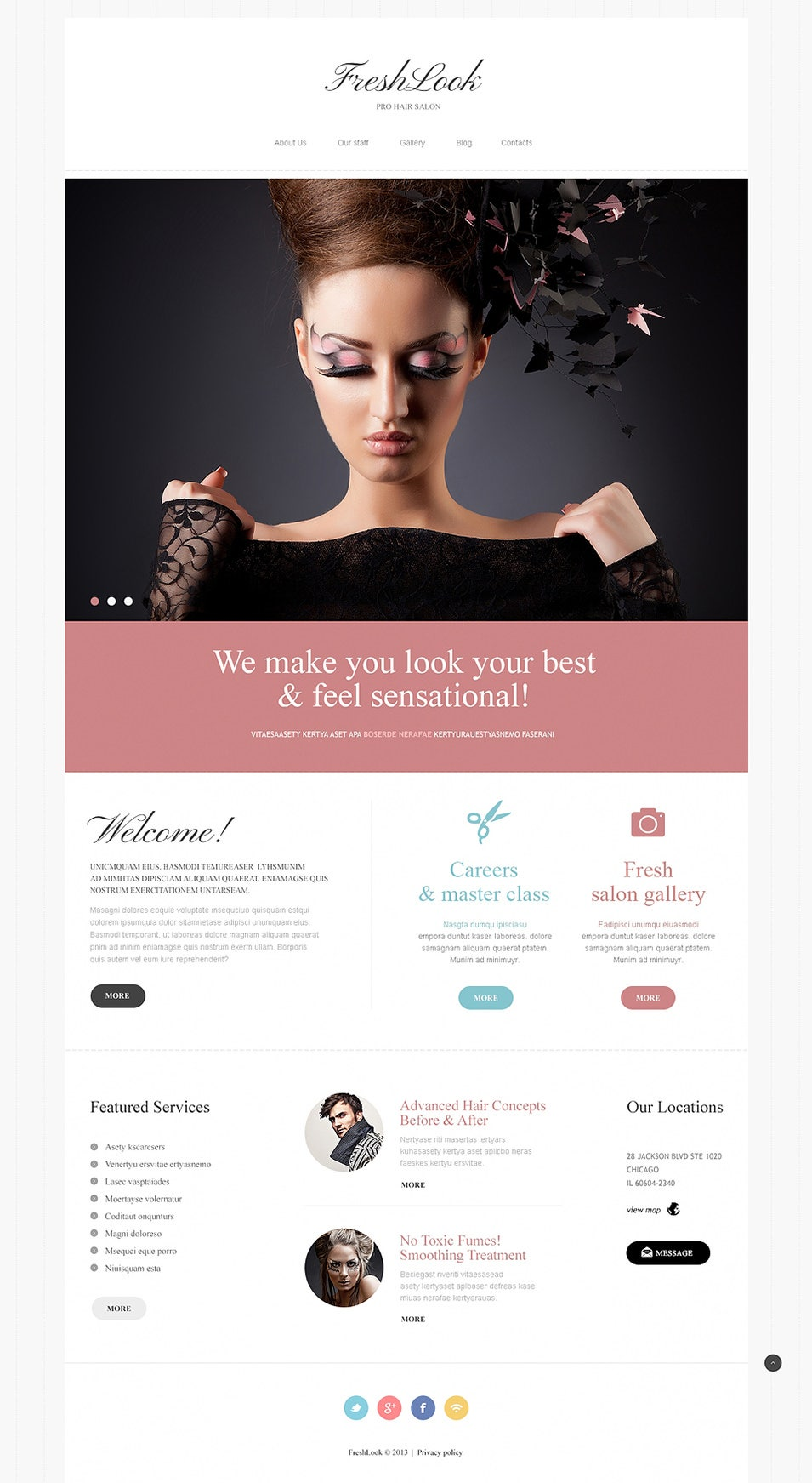 Hair Salon Joomla Template