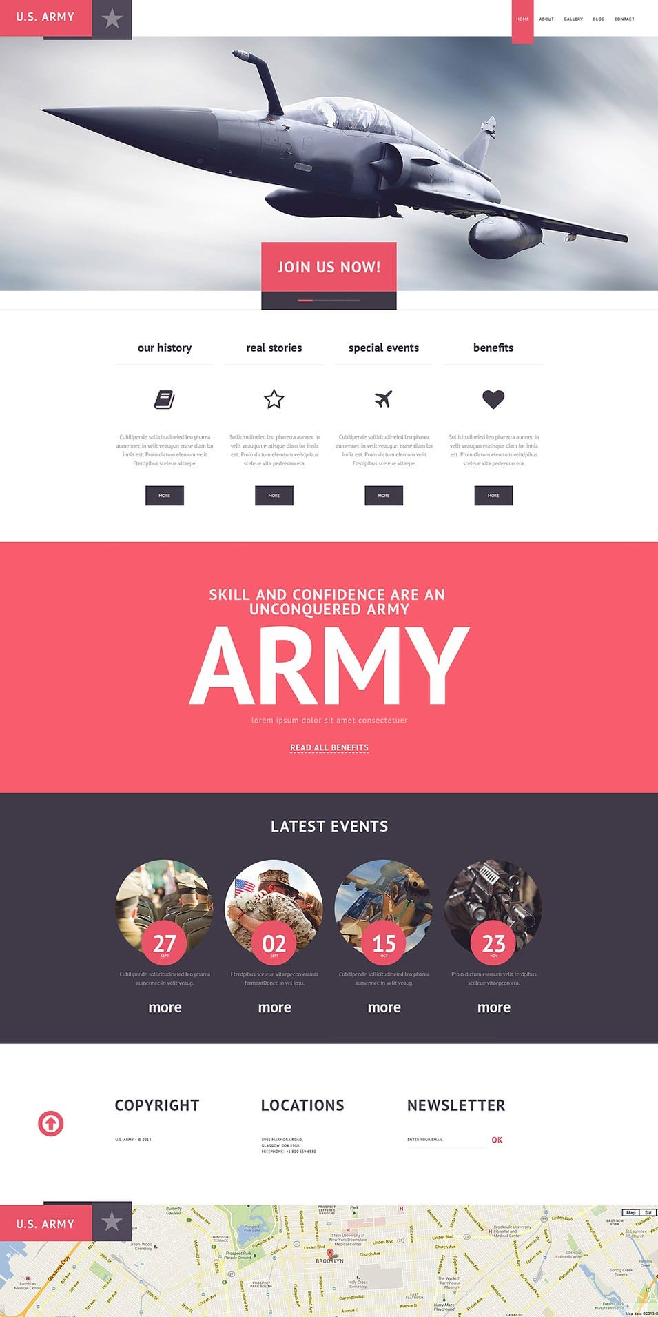 Modern Military WordPress Theme