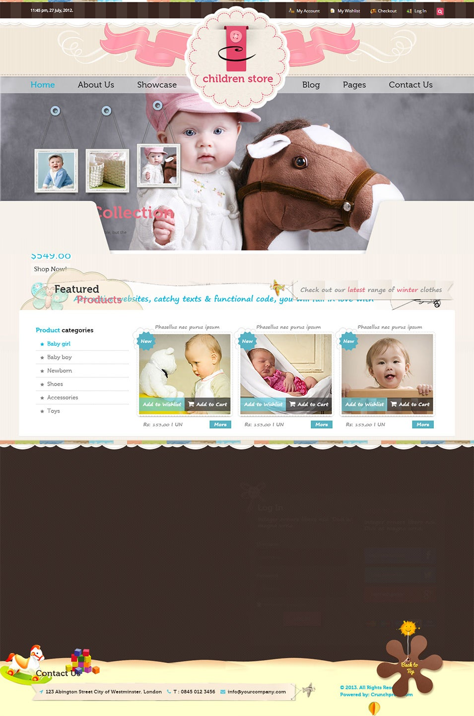 25 Best Baby Mobile Templates For Baby Blogs & Websites