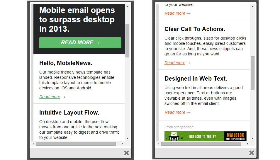 Best Mobile Newsletter Templates   Free Sample Example