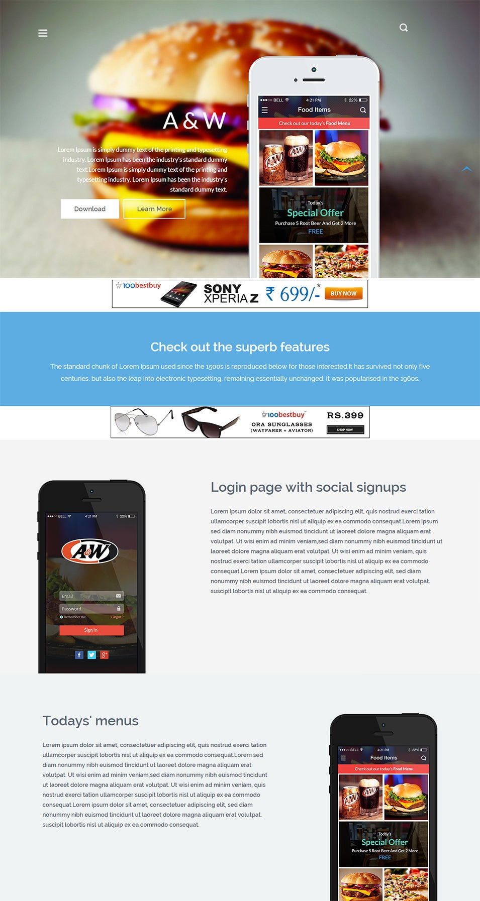 a w landinge bootstrap website template home w3layouts