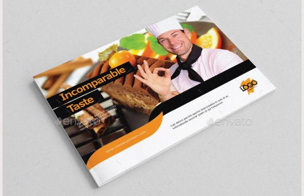 A5 Bakery Catalog Template