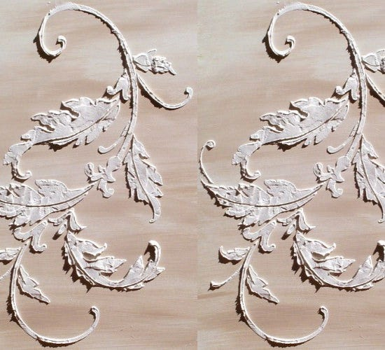 acanthus flourish stencil