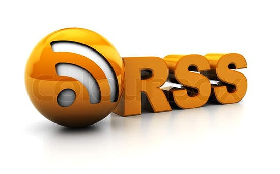abstract 3d illustration of rss sign or icon