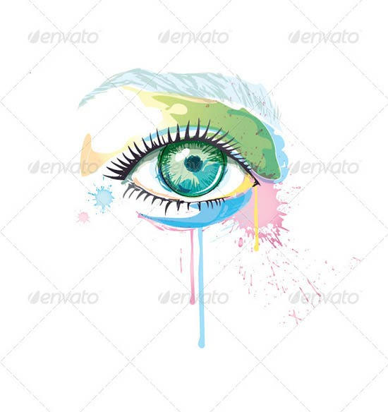 abstract eye vector watercolor