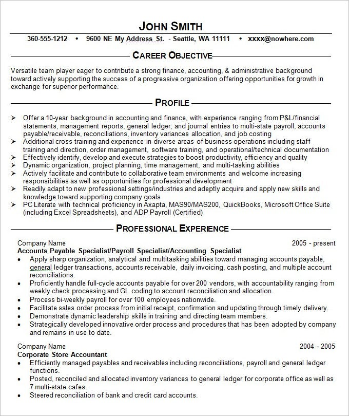 Resume Example   Free Samples Examples Format Download