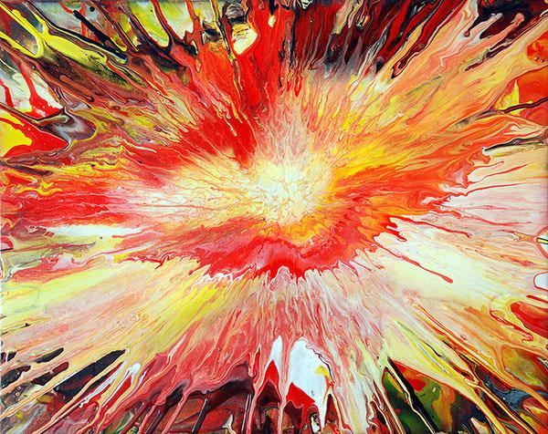 acrylic paint explosion