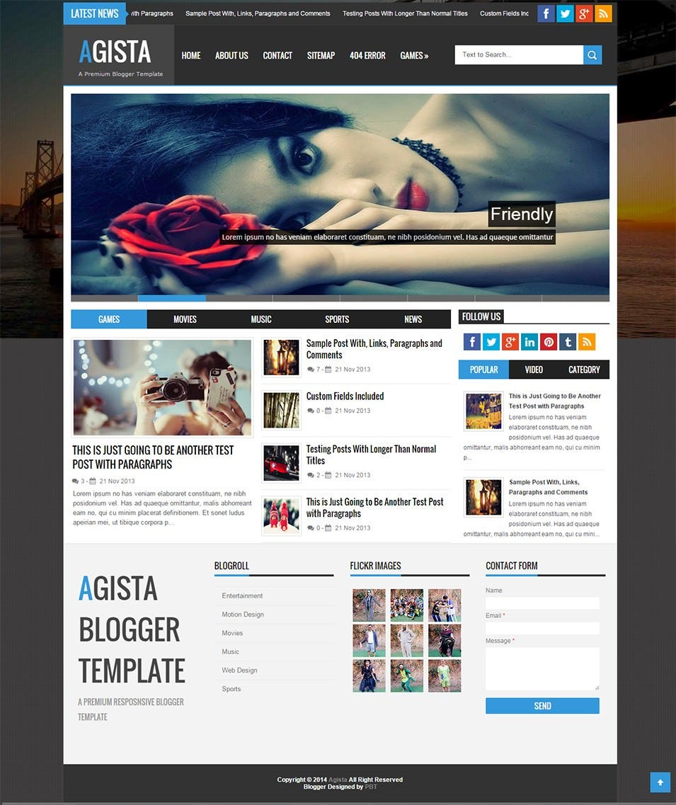 Responsive Multipurpose Seo Blogger Template 21