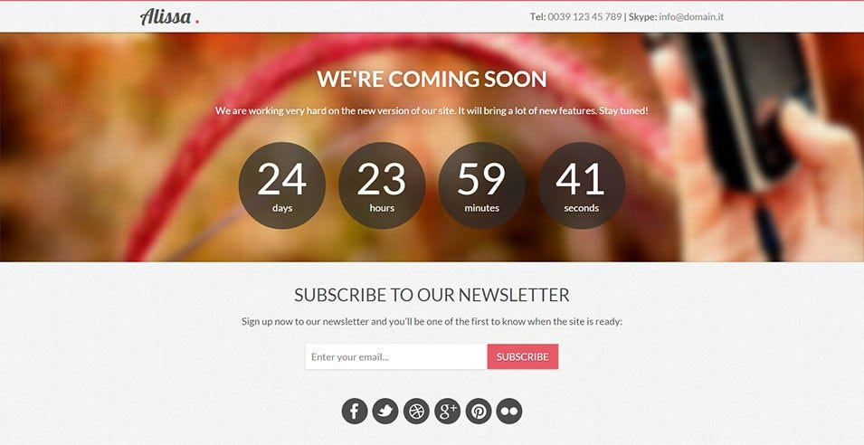 25 best coming soon landing page templates free premium templates responsive bootstrap coming soon page pronofoot35fo Choice Image