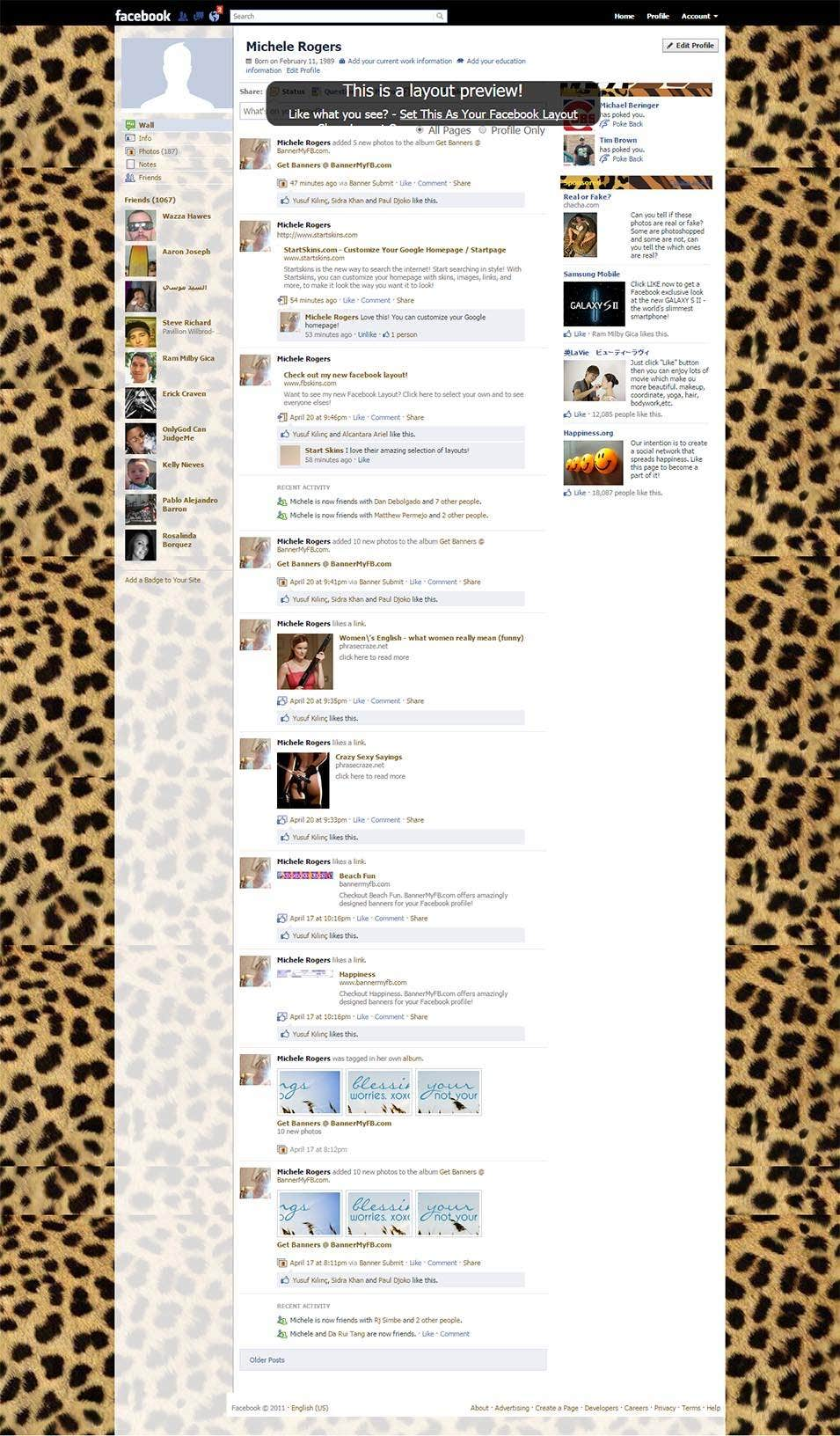 animal print facebook layout preview1