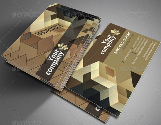 26 Best Business Cards For Architects Amp Constructors