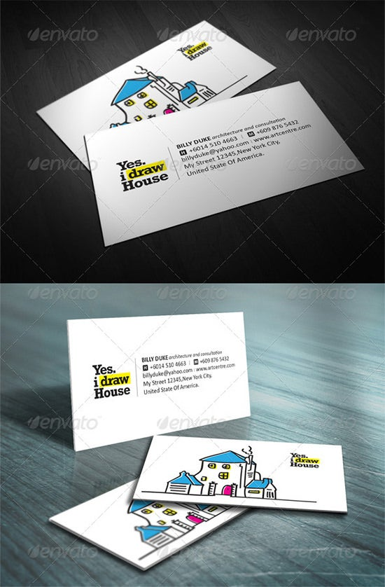 34  best architecture and construction business card