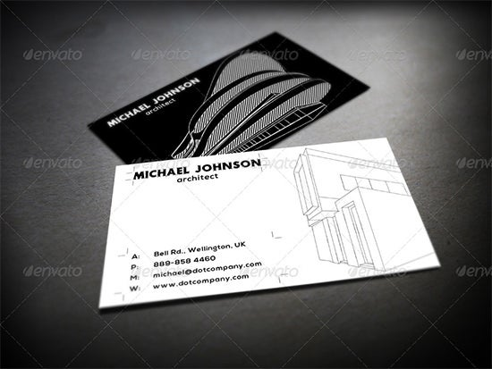 business card architecture psd