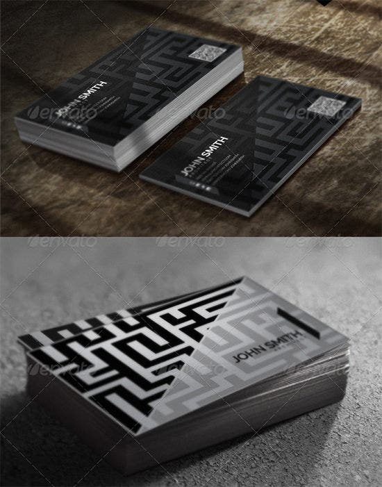 architect business card set