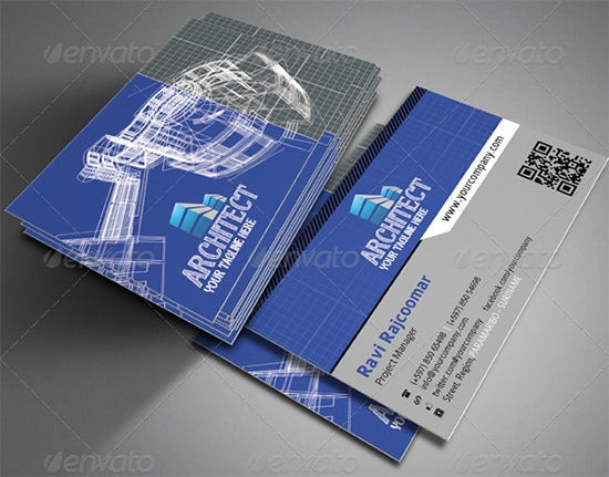31  best business cards for architects  u0026 constructors